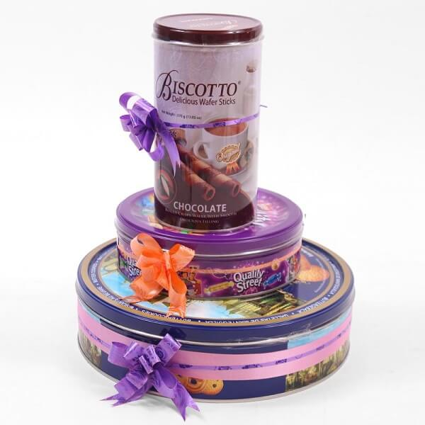 Chocolates and Cookies Gift Tower - Foriorder