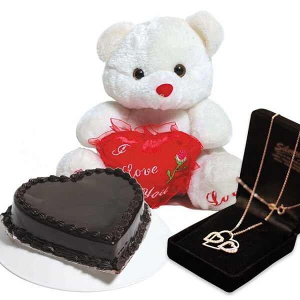 Teddy bear with cake gifts