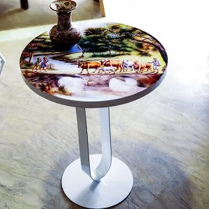 Printed Epoxy Resin Side Table